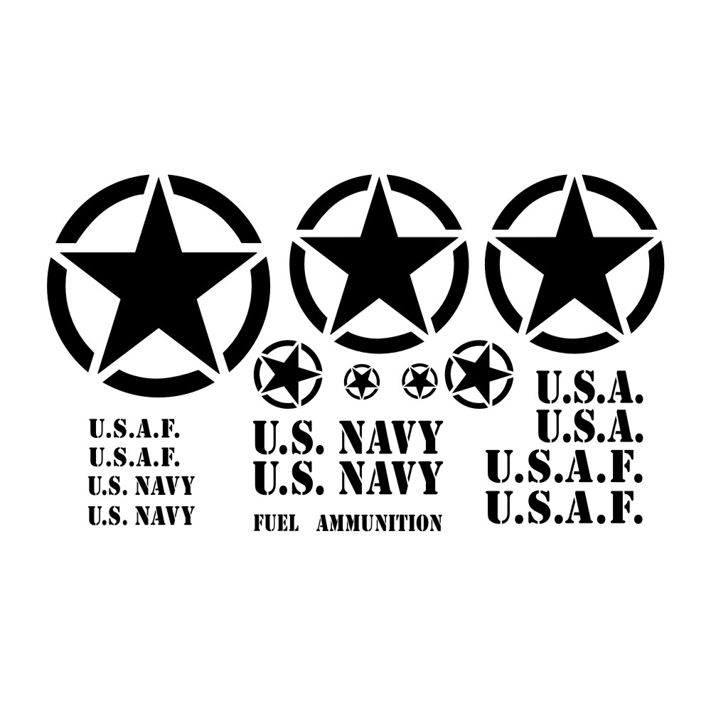 TP 30 Tire Pressure Decal restore military m37 m38 army jeep BLACK