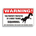Squirrel Warning Decal