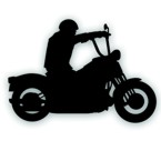 ape hanger motorcycle decal