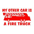 other car fire truck decal