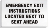 Emergency Exit Decal
